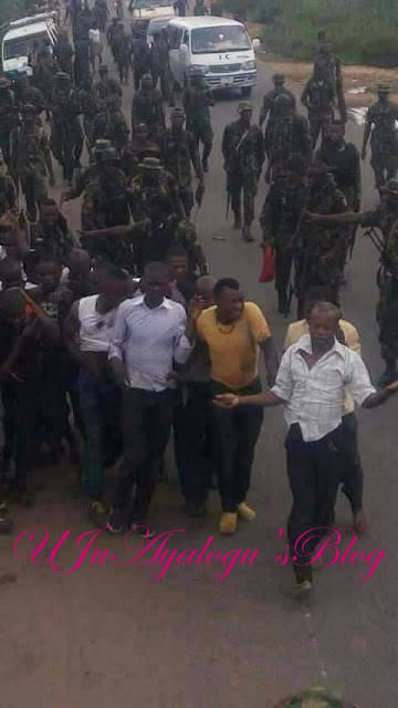 IPOB Members Reportedly Arrested By Soldiers While on Their Way to Kanu's House (Photo)