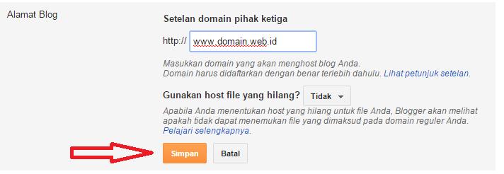 Cara Merubah Blogspot ke Domain Sendiri