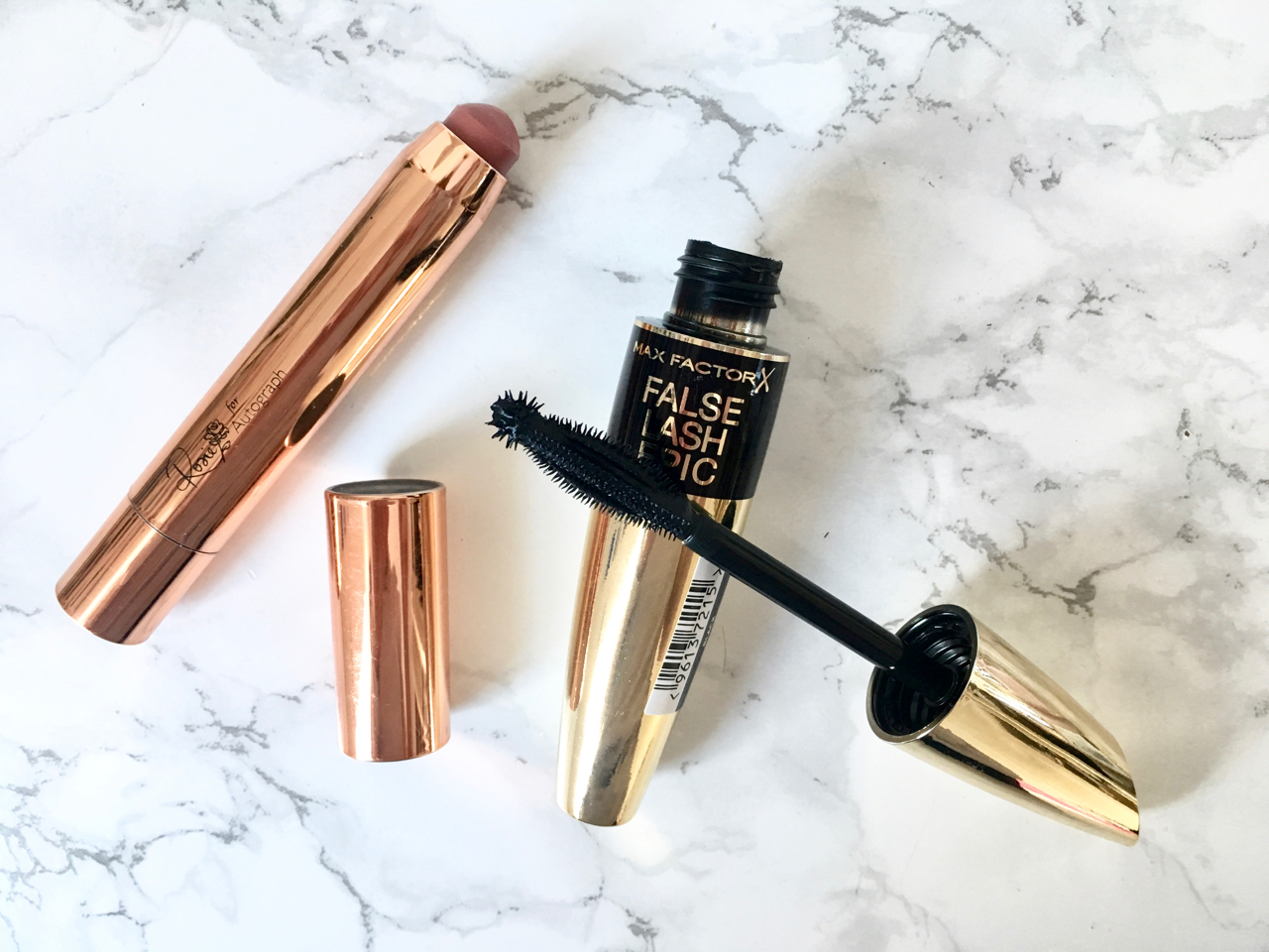 Beauty blogger favourites - M&S Rosie Lip Gloss and Max Factor Mascara