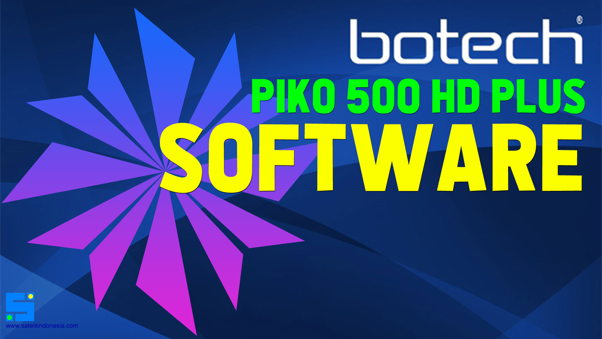 Download Software Botech Piko 500 HD Plus Update Firmware Receiver