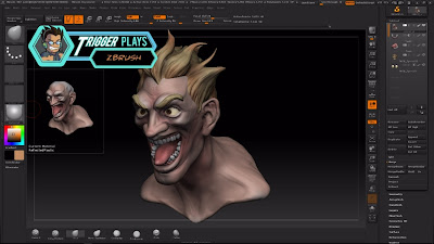 Creating Junkrat head on Zbrush - part 2