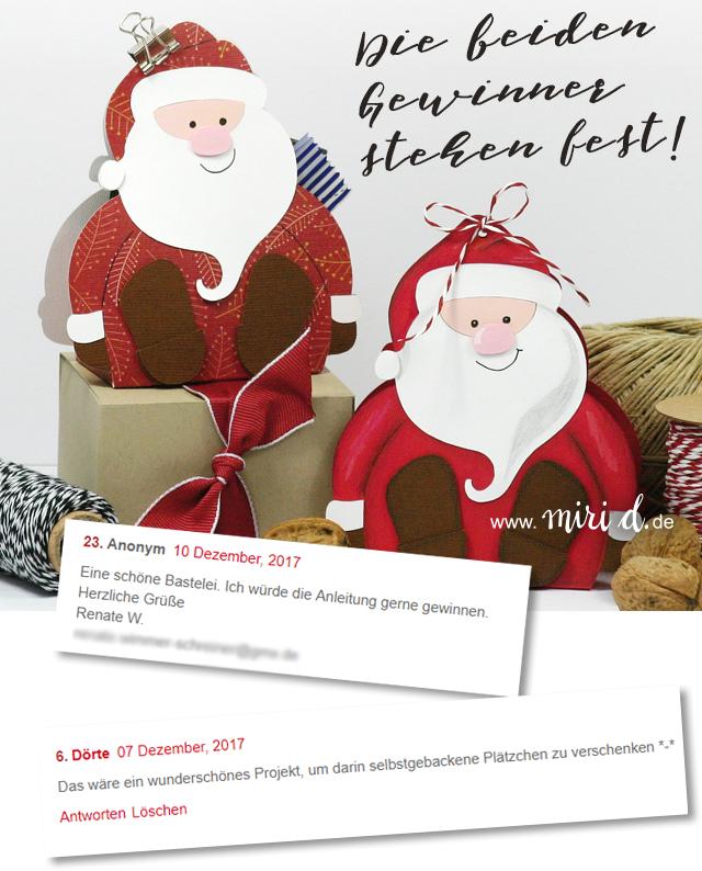 www.miriD.de: Geschenkschachtel Weihnachtsmann: Die Gewinner