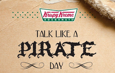 talk like a pirate day meme images poster krispy kreme