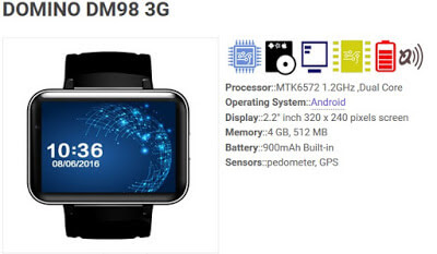 SmartWatch Domino DM98