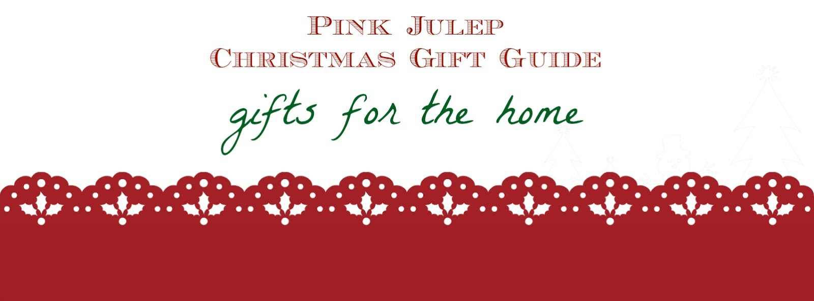 CHRISTMAS GIFT GUIDE 2016 No. 1 - For the Home | Pink Julep