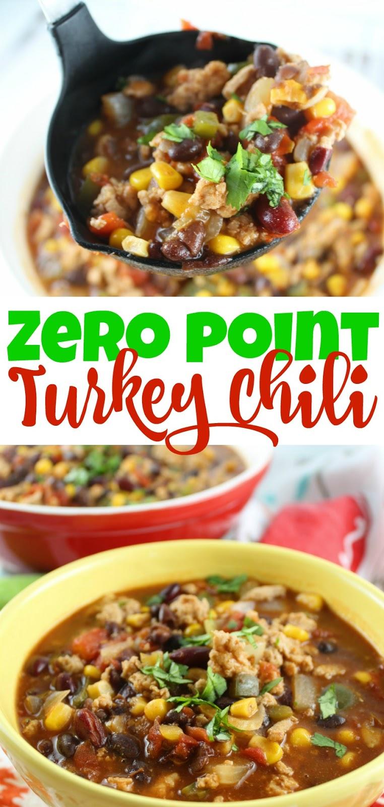 zero point weight watchers turkey chili