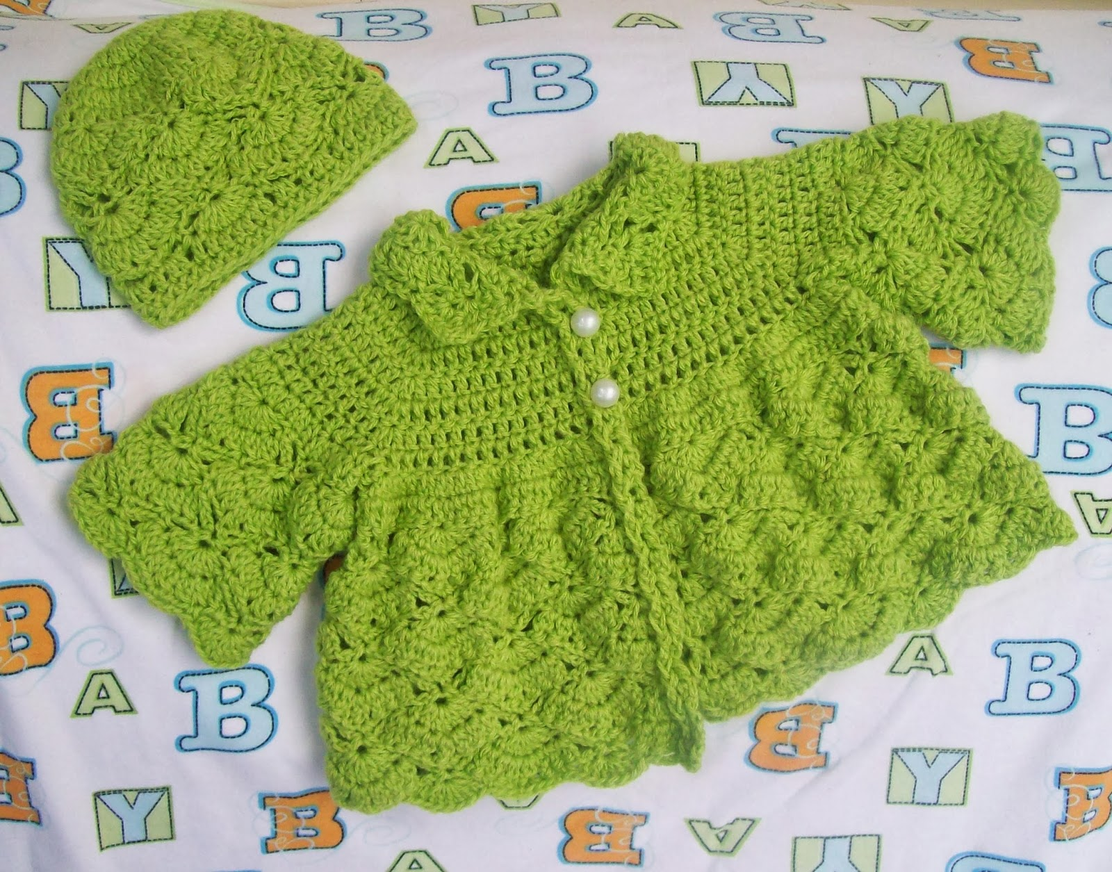 baby sweater free crochet pattern