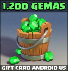 1.200 Gemas em Clash Royale - Comprar Gemas