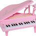 Keys Little Pink Piano for Girls with Microphone Electronic Organ Music Keyboard for Kids