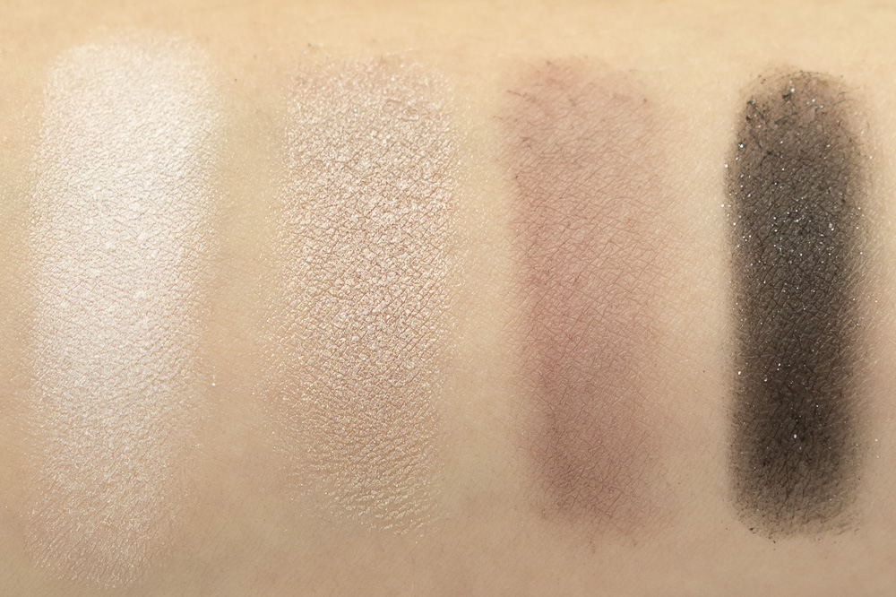 Tanya Burr Cosmetics Galaxy Eyeshadow Palette swatches