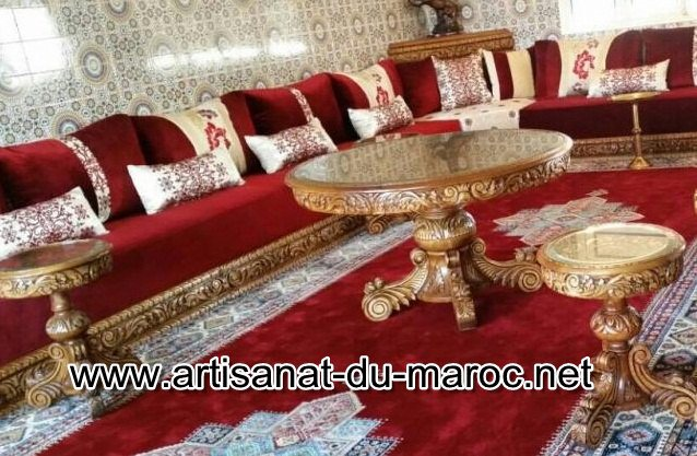 Salon Marocain Velour Rouge