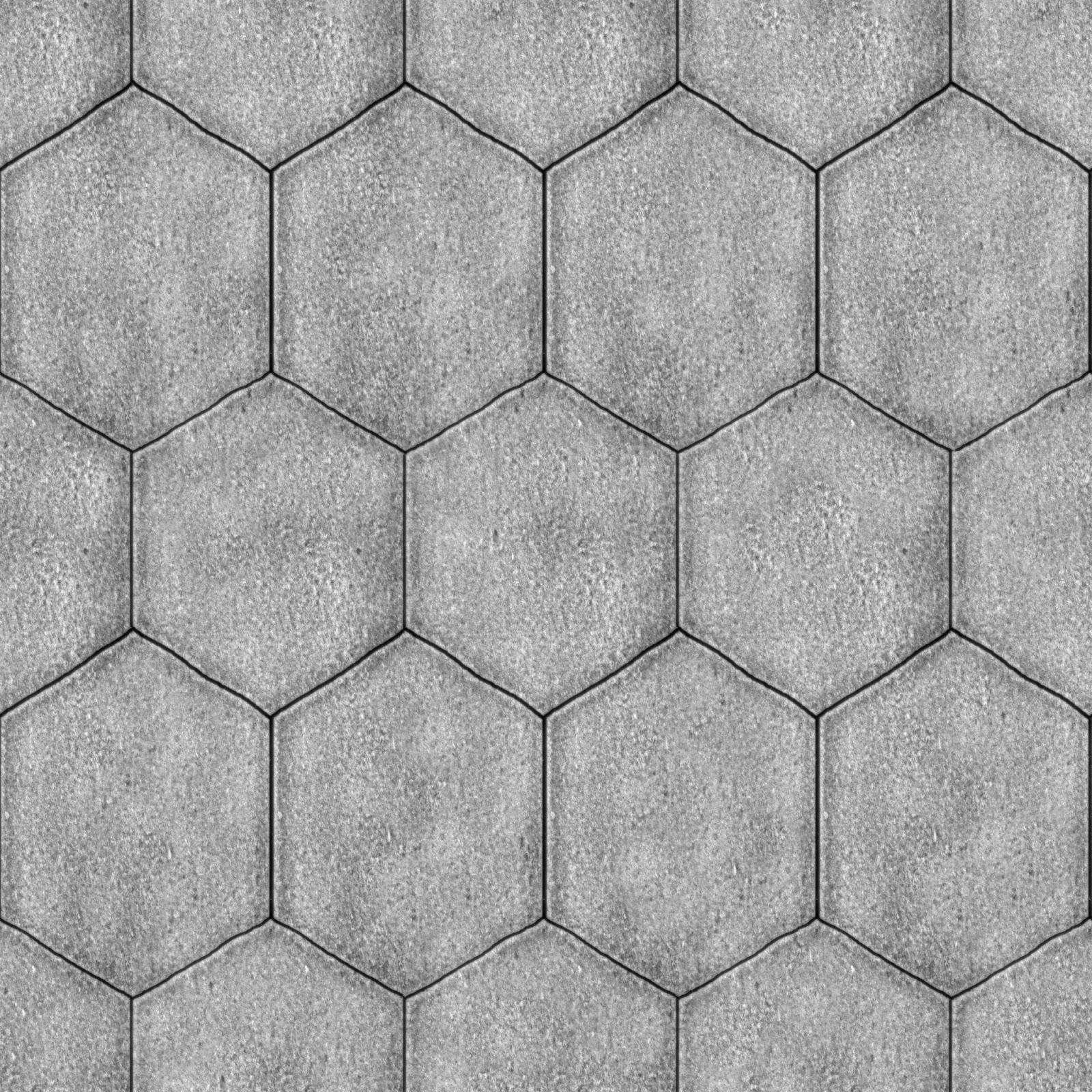 Tileable Hexagonal Stone Pavement Texture Maps