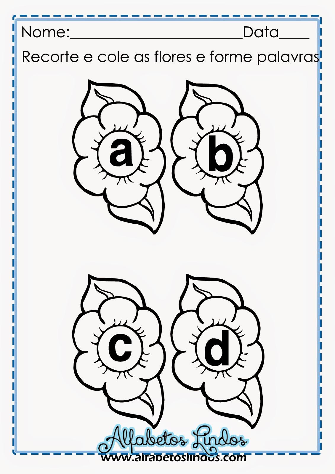 Alfabeto De Primavera Atividade De Alfabetizacao Flores Com