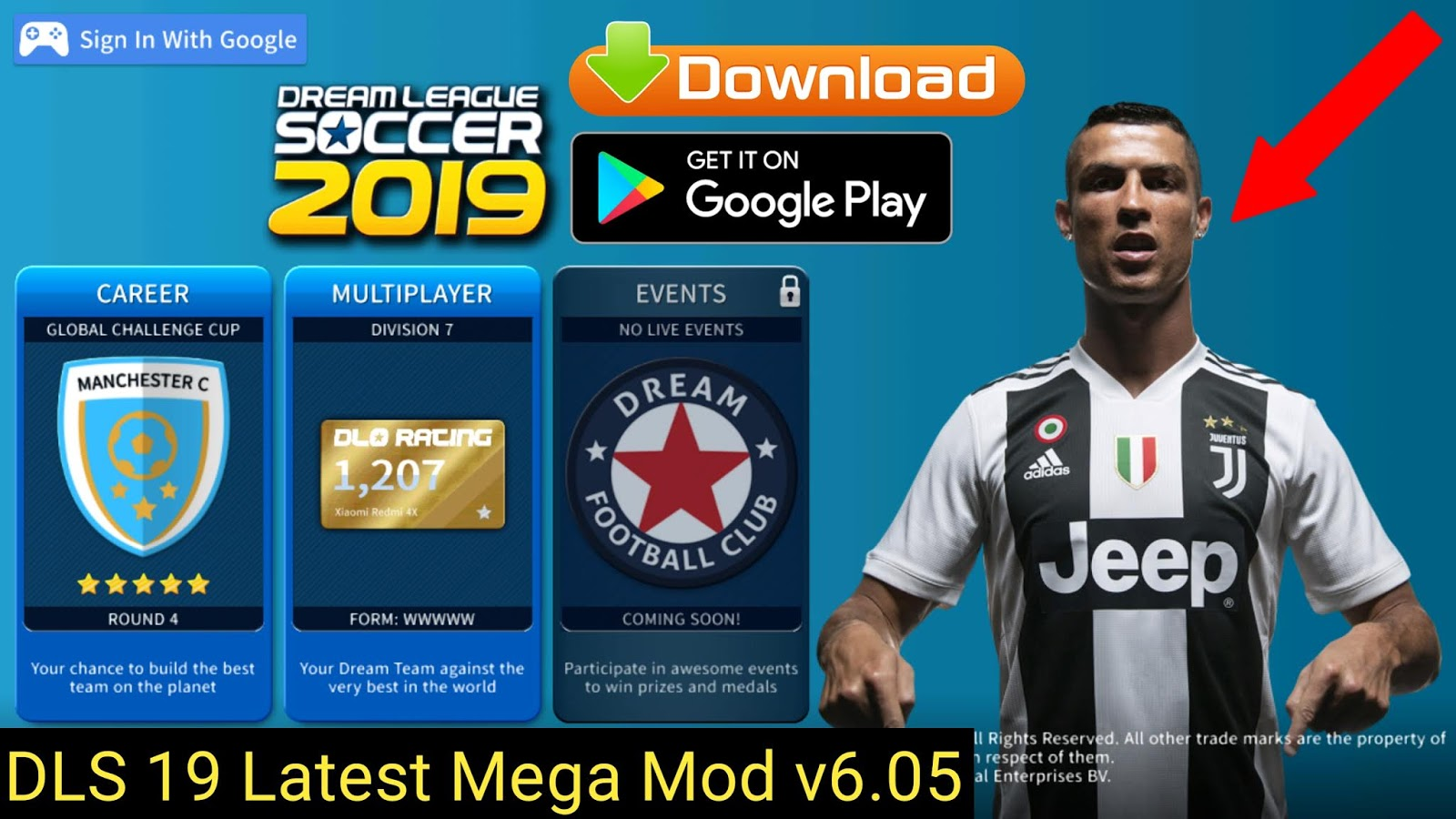 Dream League Soccer 2019 Apk v6 05 [All Players Unlocked + Unlimited
