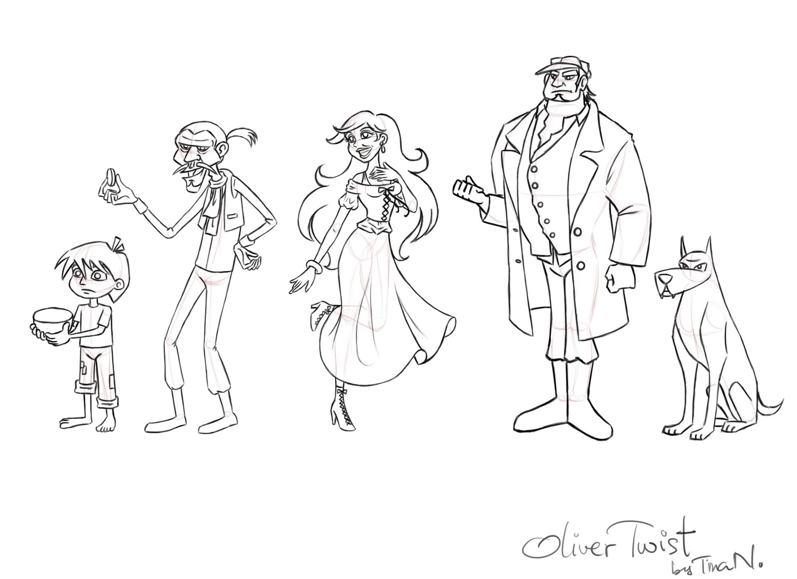oliver twist coloring pages - photo#5