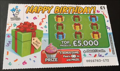 £1 £5,000 Happy Birthday Scratch Card