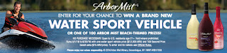 Enter the Arbor Mist Winery Water Sport Vehicle Giveaway. Ends 6/30