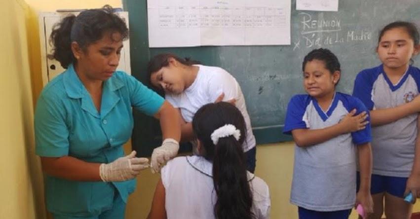 Vacunarán contra el virus del papiloma humano en colegios de Moyobamba en la región San Martín