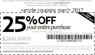 free Kirklands coupons march 2017