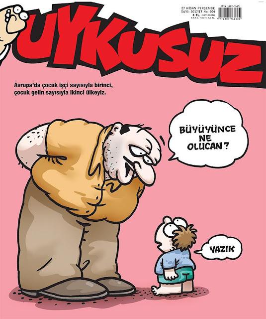 avrupa türkiye çocuk işçi ve gelin karikatür
