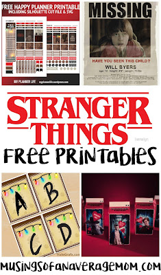 Free stranger things printables