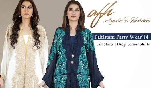 AFH Ayesha Farook Hashwani Designs 2014 | Pakistani Party Wear Tail Shirts Fashion