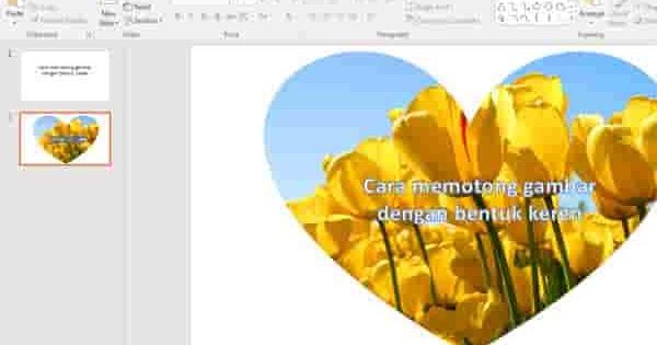 Cara Mudah Memotong Gambar Di Power Point Dengan Bentuk Yang Keren Tutorial Photoshop Tips Power Point Tutordsain