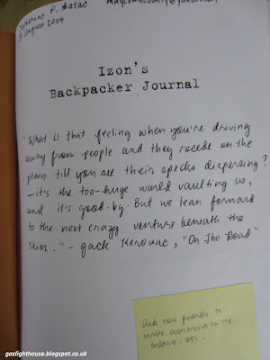 Catherine Batac Walder Izon's Backpacker Journal On the Road Jack Kerouac