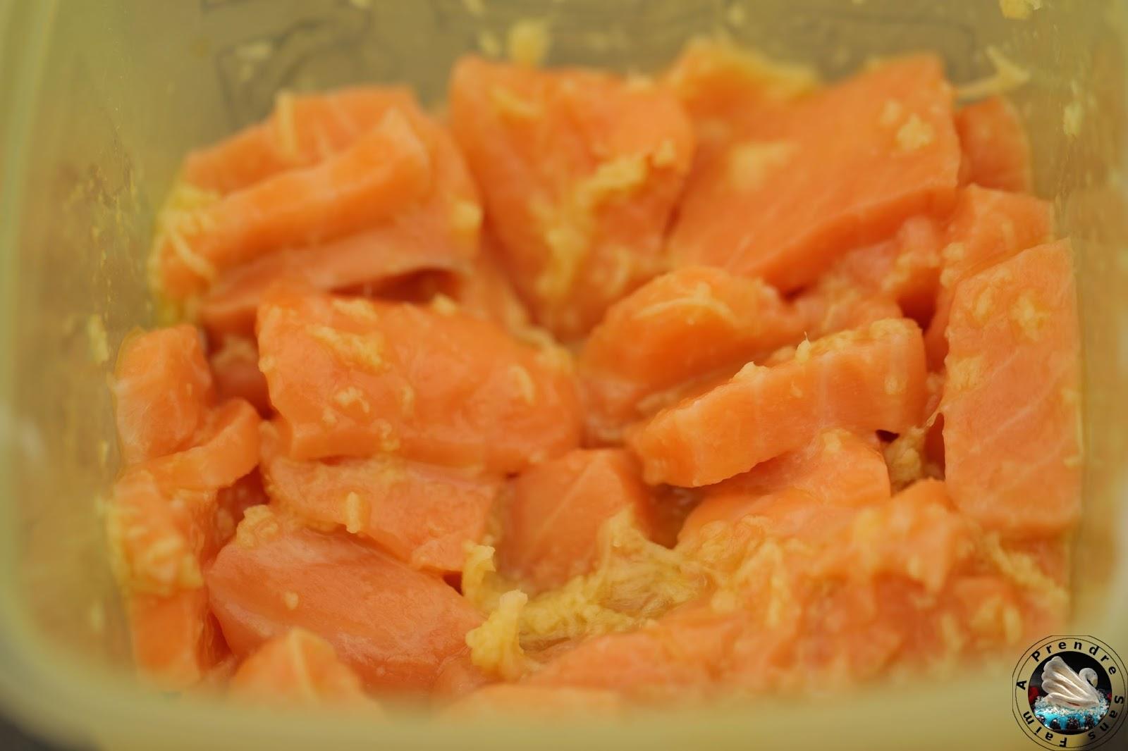 Lasagnes maison au safran et saumon gingembre