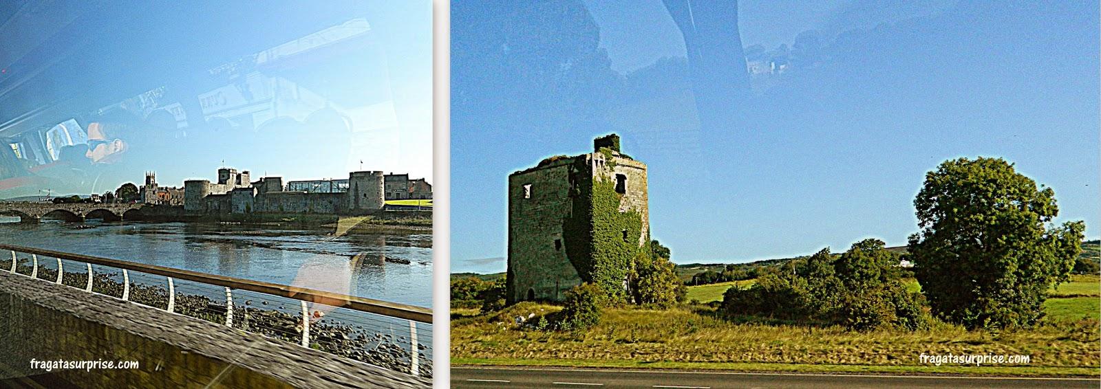 Paisagem da Irlanda no caminho para os Cliffs of Moher