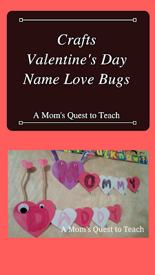 Valentine's Day Name Love Bugs