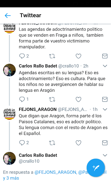 agendas, adoctrinamiento, catalanista, franja
