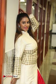 Telugu Actress Sri Reddy Mallidi Stills in White Beautiful Dress at Marriage Needs Bridal Fashion Week 2017 Logo Launch  0019.JPG