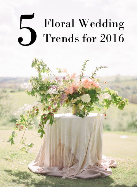 Floral Wedding Trends for 2016