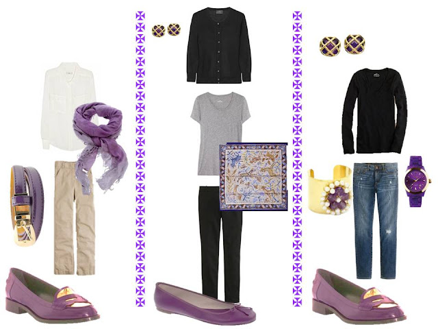 The original version of A Common Wardrobe, with purple accessories.