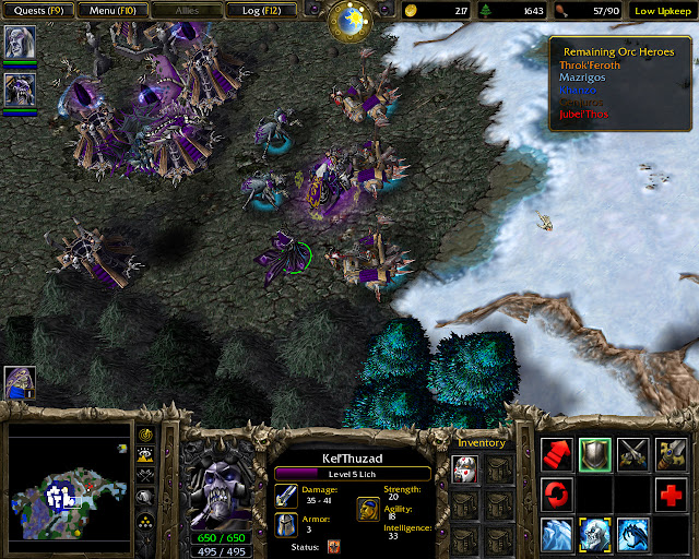 Warcraft 3: Reign of Chaos Kel'Thuzad Screenshot