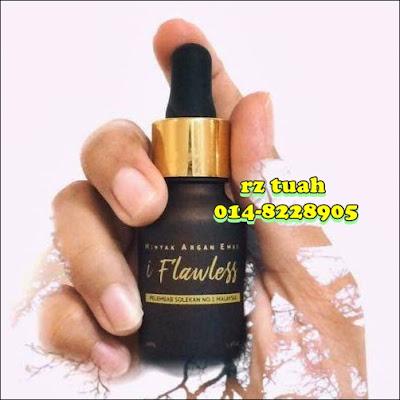 i flawless minyak argan emas pelembap kulit