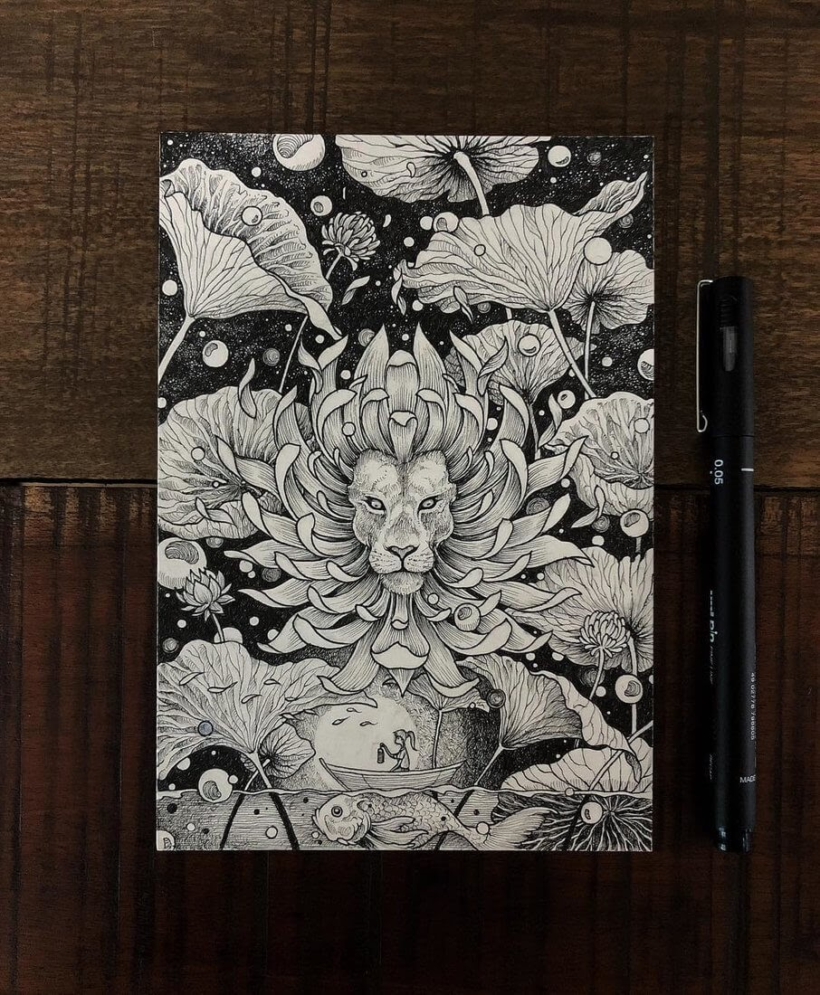 16-Visitor-III-Kerby-Rosanes-Free-Hand-Detailing-and-Doodling-www-designstack-co