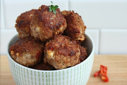 Sun-dried Tomato & Feta Meatballs (Low Carb & Gluten Free)