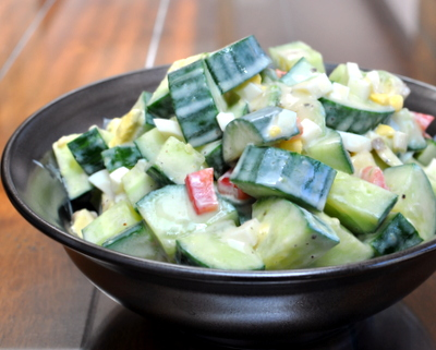 Smitten Kitchen's Avocado-Cucumber Salad, another quick and easy and possibly addictive salad ♥ AVeggieVenture.com.