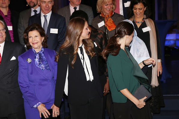 Princess Madeleine of Sweden and Princess Sofia of Sweden attended the Global Child forum at the Royal Palace in Stockholm
