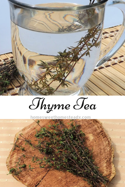 Thyme Tea - Home Sweet Homestead