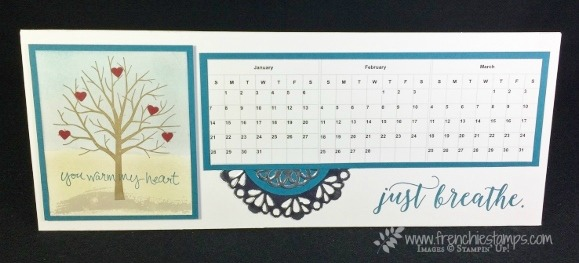 Horizontal Calendar, Class in the mail, Frenchie Live on You Tube, Stampin'Up!