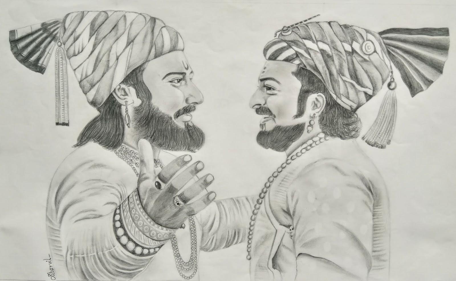 Shivaji sambhaji maharaj shivajimaharaj sambhajimaharaj sketch art pencil sketch pencilsketch charcoalsketch charcoal sketch sharvil patil