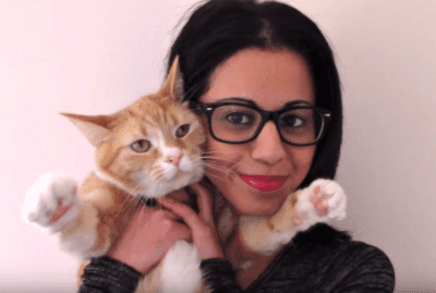 Stephanie And Her Cat