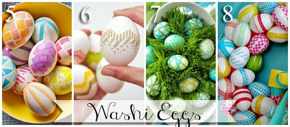 Ways to decorate Easter Eggs with washi tape