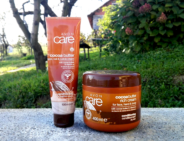 Avon Care Cocoa Butter Hand, Nail & Cuticle Cream and Rich Cream for Face, Hand & Body