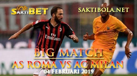 Prediksi Sakti Taruhan bola AS Roma vs AC Milan 4 Februari 2019