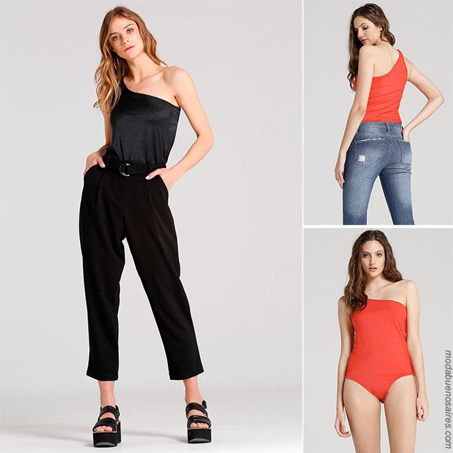 Moda 2018 looks con bodys y blusas de moda para mujer.
