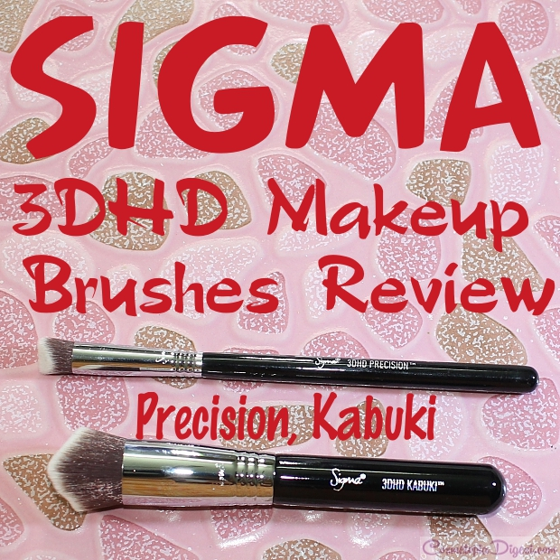 Sigma 3DHD Kabuki and Precision face makeup brushes review